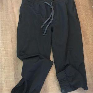 Adidas Climawarm Black Joggers Sz L EUC